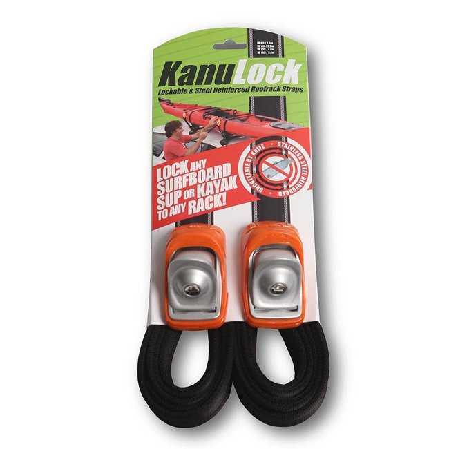 KanuLock Kanu Lock 11'/3.3m Lockable Cable Reinforced Tie-Downs