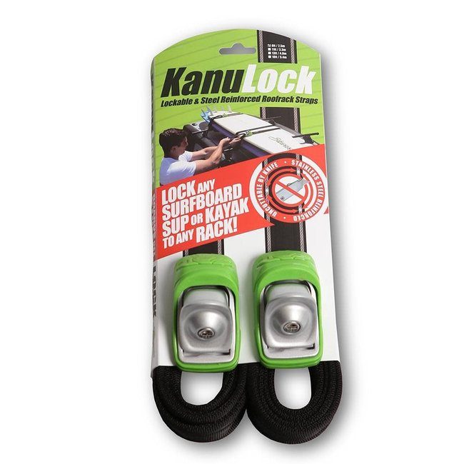 KanuLock Kanu Lock 8'/2.5m Lockable Cable Reinforced Tie-Downs