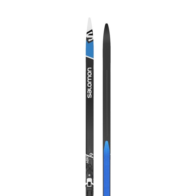 Salomon Aero 9 eSkin Cross Country Ski + Prolink Shift Pro Bindings
