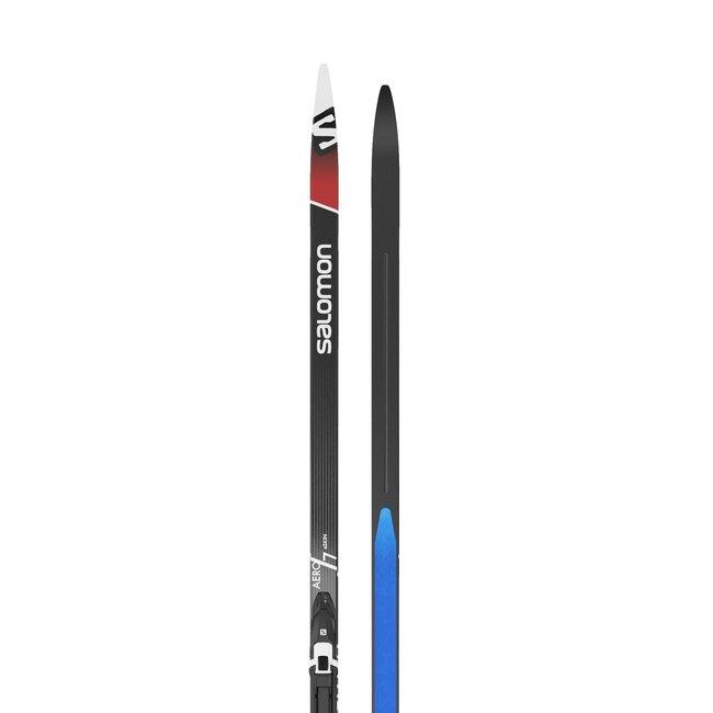 Salomon Aero 7 eSkin Cross Country Ski + Prolink Shift Pro Bindings
