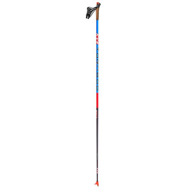 KV+ Tornado Blue Full Carbon Cross Country Ski Pole Kit