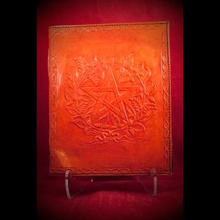 Small Herbal Pentagram Journal in Orange