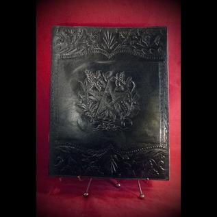 Hex Large Herbal Pentagram Journal in Black