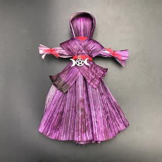 Triple Goddess Corn Husk Charm Doll