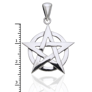 Hex Textured Open Pentacle