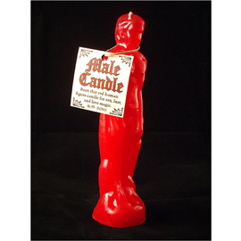 Red Male Image Candle