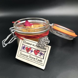 Hex Glamour and Attraction Beeswax Charm Candle 7.4oz