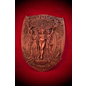 Maiden Mother Crone Triple Goddess Plaque in Wood Finish