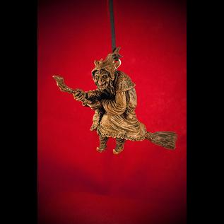 La Befana Ornament in Wood Finish