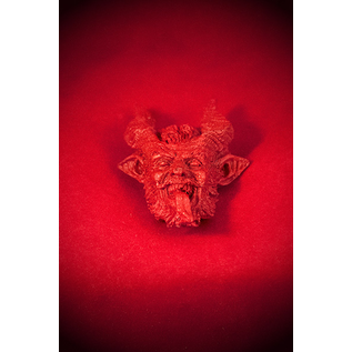 Small Krampus Magnet in Red Finish
