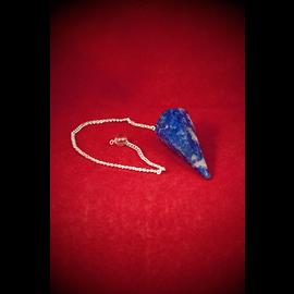 Agate Export Lapis 12 Faceted Pendulum