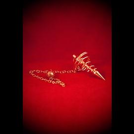 Agate Export Copper Spiral Metal Pendulum
