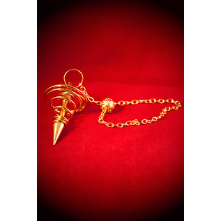 Agate Export Brass Spiral Metal Pendulum