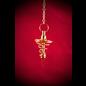 Brass Spiral Metal Pendulum