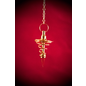 Hex Brass Spiral Metal Pendulum