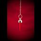 Hex Silver Round Plain Pendulum