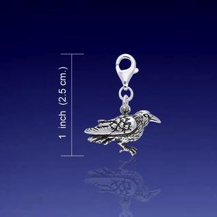 Silver Raven Clip