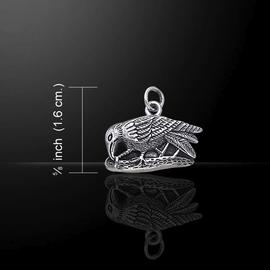 Small Silver Raven Pendant
