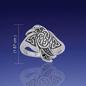 Celtic Silver Raven Ring - Size 11
