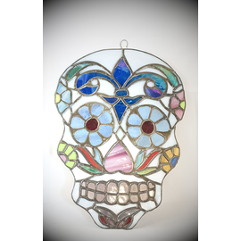 Stained Glass Sugar Skull - Large