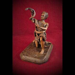 Hex Marie Laveau Statue in Wood Finish
