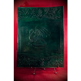 Large Dragon Journal in Green