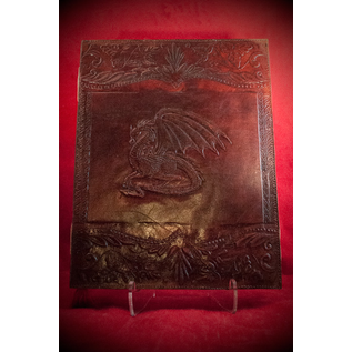 Large Dragon Journal in Brown