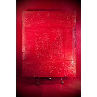 Hex Large Raven Journal in Red