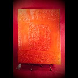 Large Raven Journal in Orange