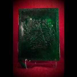 Small Herbal Pentagram Journal in Green