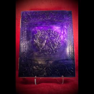 Large Herbal Pentagram Journal in Purple