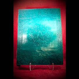 Large Herbal Pentagram Journal in Blue