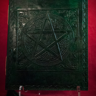 Hex Small Pentacle in Square Journal in Green