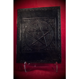 Small Pentacle in Square Journal in Black