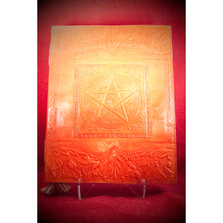 Large Pentacle in Square Journal in Orange