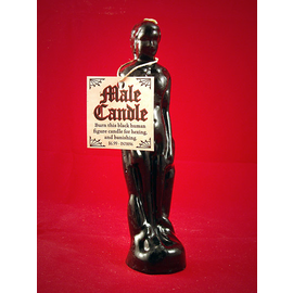 Black Male Image Candle