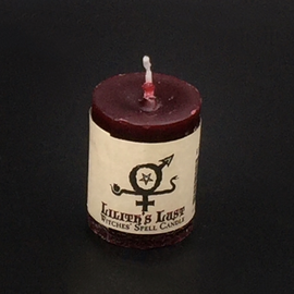 Dark Candles Hex Votive Candle - Lilith's Lust