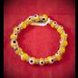 Evil Eye Bracelet Yellow 4mm