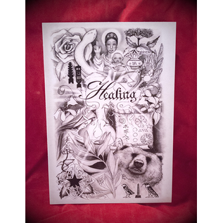 Healing Postcard by Sabrina the Ink Witch