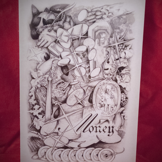 Hex Money Postcard by Sabrina the Ink Witch