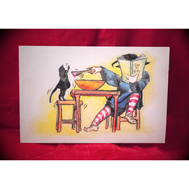 Cook for Kitty Postcard by Sabrina the Ink Witch