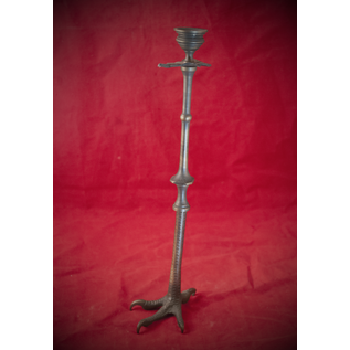 Extra-Large Blackened Brass Claw Candlestick