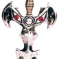 Hex Draco Sword Pendant: Vitality, Wit, and Protection