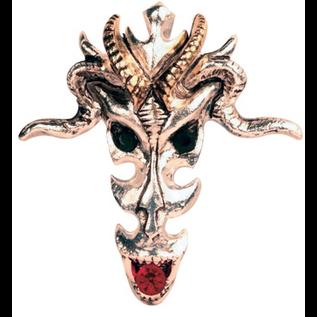 Hex Dragon Skull Pendant: Wealth & Riches