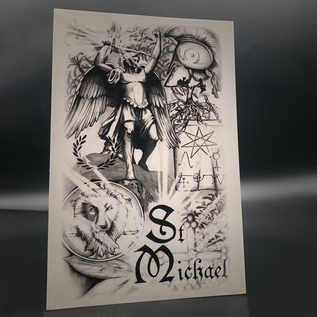 Hex St. Michael Postcard by Sabrina the Ink Witch