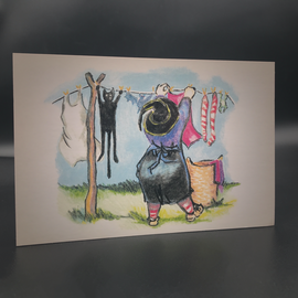 Hex Witch Wash Day Postcard by Sabrina the Ink Witch