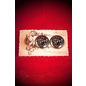 The Black Broom Beelzebub buttons (pair)
