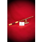 Red Oak Wand with Yellowheart and Purpleheart Handle and Quartz Tip