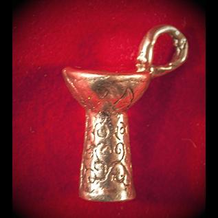 Hex Dumbek in Bronze