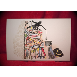 Hex Just Here to Help Postcard by Sabrina the Ink Witch